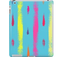 Dry brush hand drawn sketch artsy background neon colors iPad Case/Skin