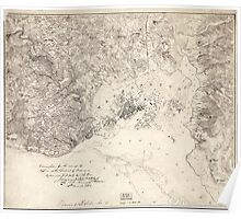 Civil War Maps 2104 Map of the fortifications within the District of Columbia Poster