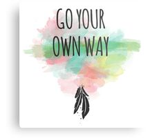 Go your own way! Metal Print