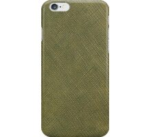 Green leather texture closeup iPhone Case/Skin