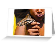 Scaled Boa Greeting Card