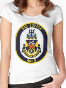 AOE-6 USS (USNS) Supply Women's Fitted Scoop T-Shirt