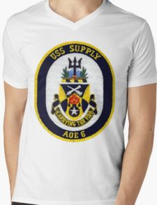 AOE-6 USS (USNS) Supply Mens V-Neck T-Shirt