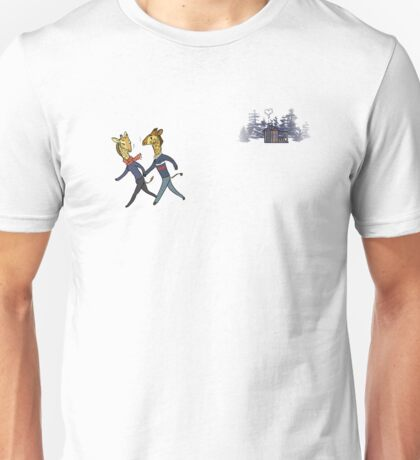 Cozy Cabin: Giraffe Edition Unisex T-Shirt