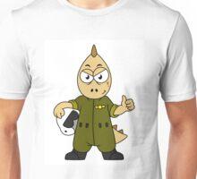 Illustration of an Allosaurus Jet pilot. Unisex T-Shirt