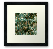 Leaves Abstract Framed Print