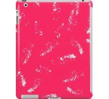 Dry brush hand drawn sketch artsy background hot pink  iPad Case/Skin