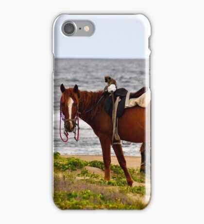 Monkey on a Horse iPhone Case/Skin