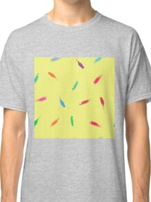 Dry brush hand drawn sketch artsy background Classic T-Shirt