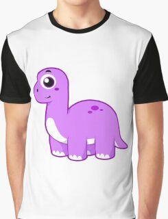 Cute illustration of a Brontosaurus dinosaur. Graphic T-Shirt