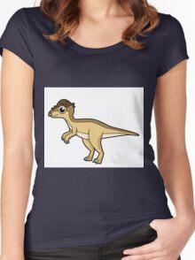 Cute illustration of a Pachycephalosaurus dinosaur. Women's Fitted Scoop T-Shirt