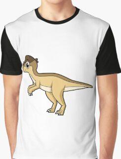 Cute illustration of a Pachycephalosaurus dinosaur. Graphic T-Shirt