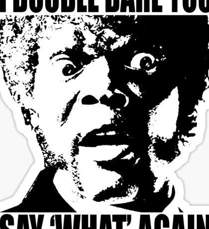 Pulp Fiction Samuel L. Jackson What T-shirt Sticker