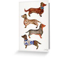 Dachshunds Greeting Card