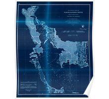 Civil War Maps 1476 Preliminary chart of North Landing River head of Currituck Sound Virginia N Carolina Inverted Poster