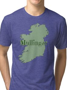 Mullingar Ireland with Map of Ireland Tri-blend T-Shirt