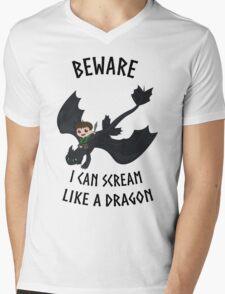 I can scream like a dragon Mens V-Neck T-Shirt