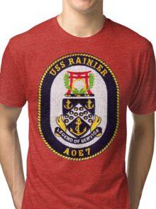AOE-7 USS (USNS) Rainier Tri-blend T-Shirt