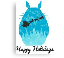 Totoro Christmas holiday Canvas Print
