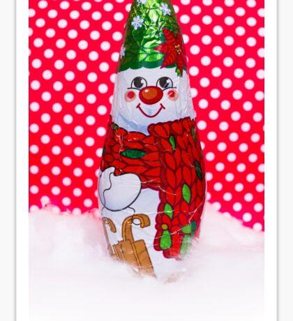 Chocolate snowman in a scarf Sticker
