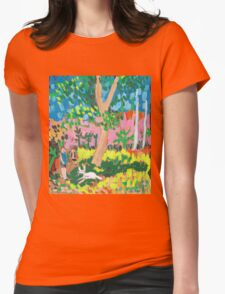 Dog Day in the Park Womens Fitted T-Shirt