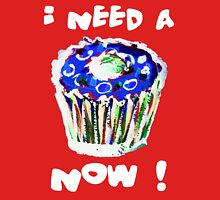 I Need A Cupcake Now White (see description for background options) Women's Fitted Scoop T-Shirt