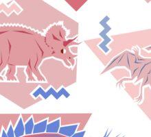 90's Dinosaur Pattern - Rose Quartz and Serenity version Sticker