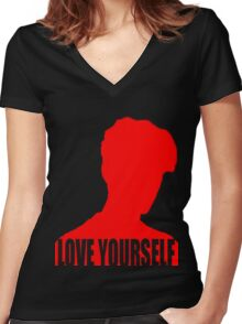 Love Yourself (Justin Bieber) Women's Fitted V-Neck T-Shirt