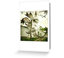 """The Wizard and the Church Dragon (Collab. with """"JR Garland"""") Greeting Card"""