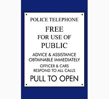 Tardis Sign/ Policebox Notice Unisex T-Shirt
