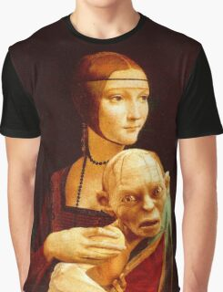 Lady with Gollum Graphic T-Shirt