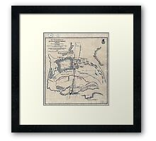 Civil War Maps 0666 Map of battlefield of Big Black River Bridge Mississippi showing the positions of the US troops May 17th 1863 Framed Print