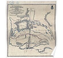 Civil War Maps 0666 Map of battlefield of Big Black River Bridge Mississippi showing the positions of the US troops May 17th 1863 Poster