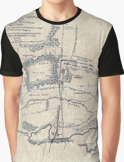 Civil War Maps 0666 Map of battlefield of Big Black River Bridge Mississippi showing the positions of the US troops May 17th 1863 Graphic T-Shirt