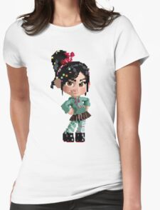 Vanellope Pixel Womens Fitted T-Shirt