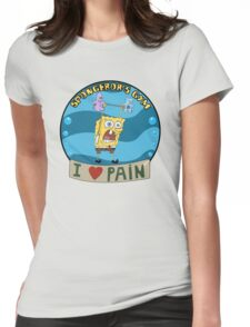 Spongebob's Gym Womens Fitted T-Shirt