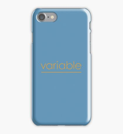 Variable iPhone Case/Skin