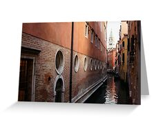 Venice, Italy - Palaces and Side Canals Greeting Card