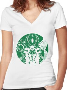 NAMI COFFEE Women's Fitted V-Neck T-Shirt