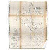 Civil War Maps 1478 Preliminary chart of Port Royal entrance Beaufort Broad and Chechessee Rivers South Carolina Poster