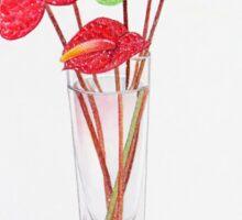 Anthurium Vase Sticker