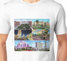 Los Angeles Vintage Postcard Art Collection Unisex T-Shirt