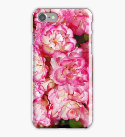 Pink and white roses iPhone Case/Skin
