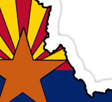 Arizona flag Idaho outline Sticker