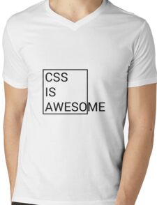 CSS is Awesome Mens V-Neck T-Shirt