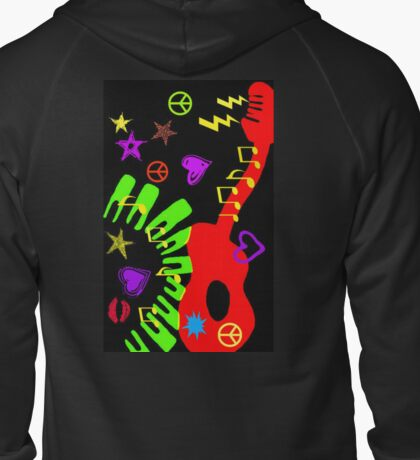 MUSIC & LOVE Zipped Hoodie