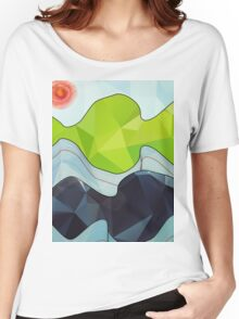 The Poly Landscape Women's Relaxed Fit T-Shirt