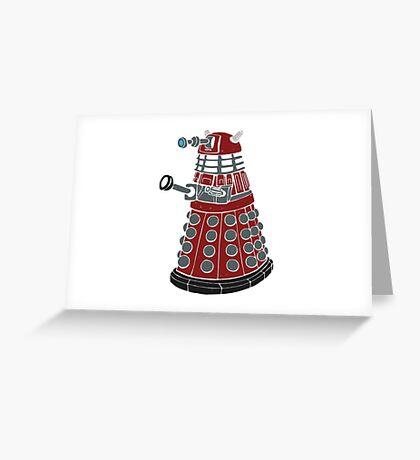 Dalek/ Doctor Who Greeting Card