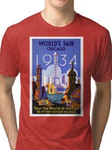 Vintage poster - Chicago Tri-blend T-Shirt