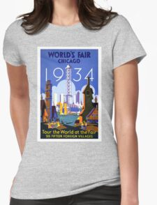 Vintage poster - Chicago Womens Fitted T-Shirt